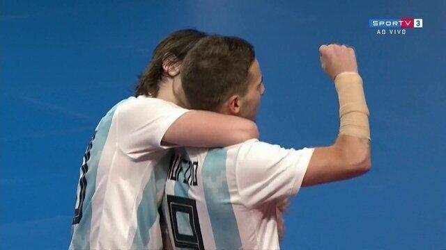 Gol da Argentina! Rufino solta a bomba e empata o jogo, 2 x 2