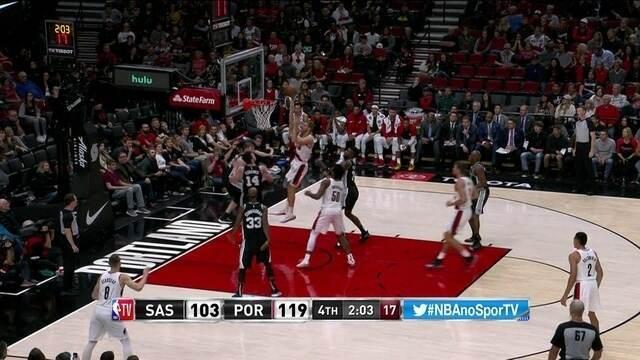 Melhores momentos de San Antonio Spurs 108 x 121 Portland Trail Blazers pela NBA