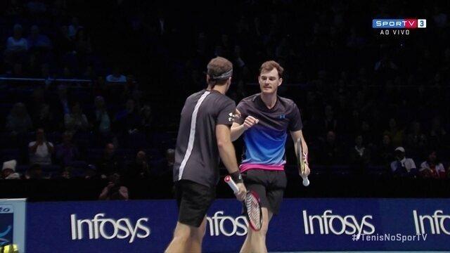 Pontos finais de Soares/Murray 2 x 0 Cabal/Farah pelo Torneio dos Campeões da ATP