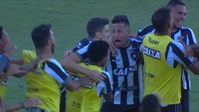 O gol de Chapecoense 0 x 1 Botafogo pela 34ª rodada do Brasileirão
