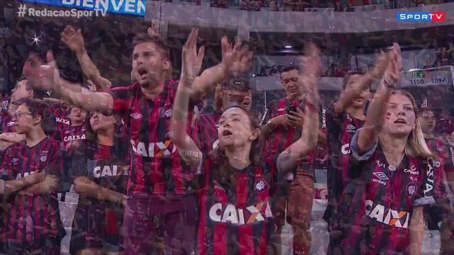 Redação SporTV destaca a festa dos torcedores do Atlético-PR na Arena da Baixada