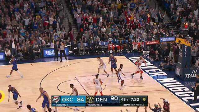 Melhores momentos: Denver Nuggets 109 x 98 Oklahoma City Thunder pela NBA