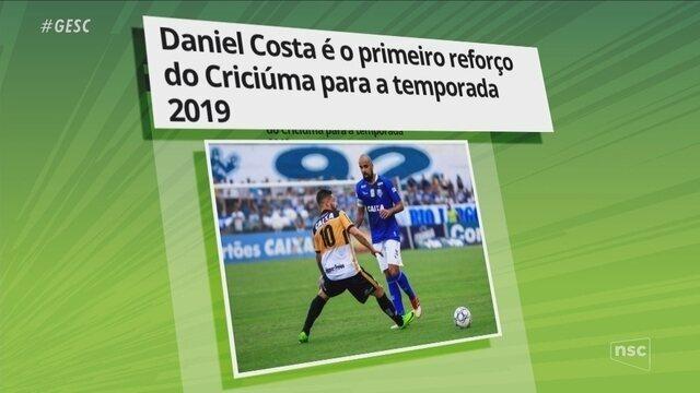 Ge no Ge: Daniel Costa é o primeiro reforço do Criciúma para 2019; Avaí deve negociar Guga