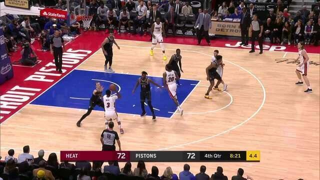 Melhores momentos: Detroit Pistons 98 x 93 Miami Heat