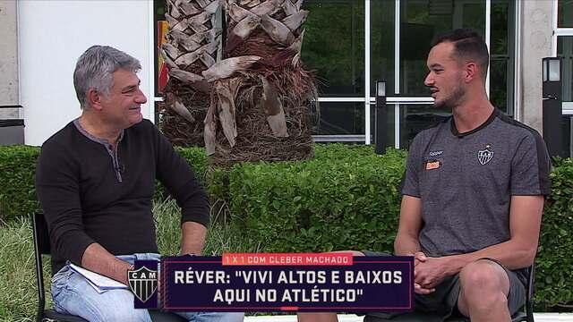 Cleber Machado entrevista o zagueiro Réver do Atlético-MG