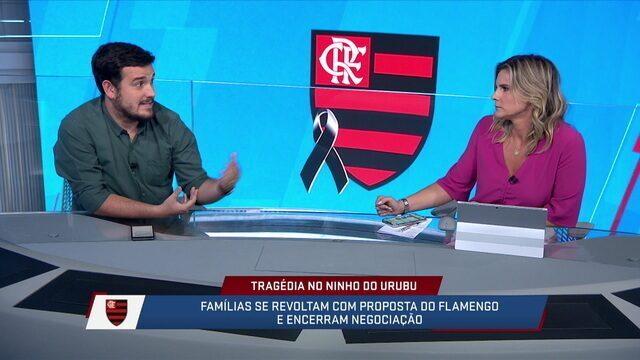 Jornalistas comentam a postura do Fla na negociação com as famílias das vítimas da tragédia do Ninho de Urubu