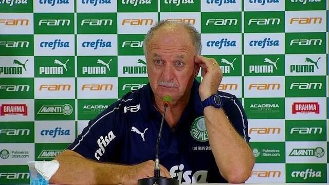 Palmeiras 0 x 0 Santos: veja a entrevista coletiva de Felipão