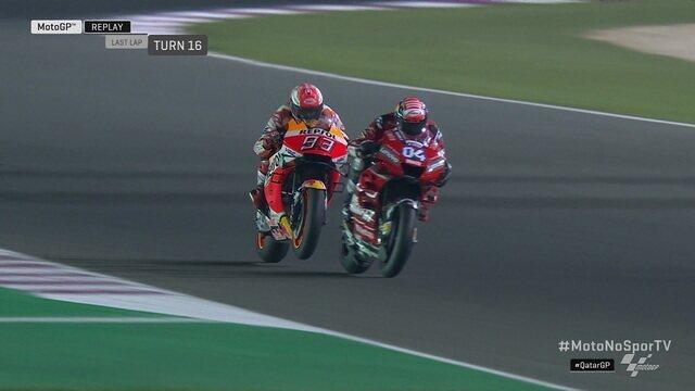 Andrea Dovizioso segura Marc Márquez até o fim e vence primeira prova do Moto GP de 2019