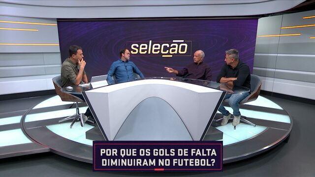 Comentaristas analisam os motivos para os gols de falta terem diminuído no futebol
