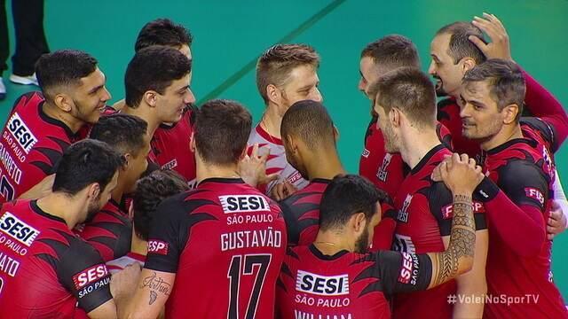 Momentos marcantes de Sesi-SP 3 x 0 Itapetininga pela Superliga masculina de vôlei