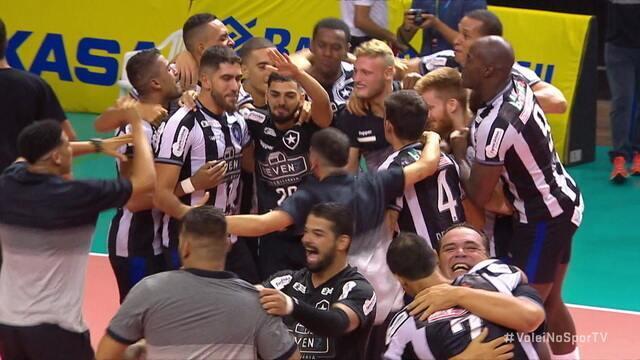 Os pontos finais de Botafogo 3 x 1 Blumenau na decisão da Superliga de Vôlei Masculina B 2019