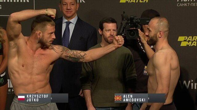 Alen Amedovski e Krzysztof Jotko participam da pesagem do UFC Fight Night 149