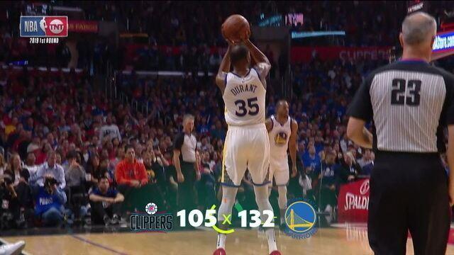 Semana NBA: com Kevin Durant gigante, Golden State abre vantagem sobre Clippers