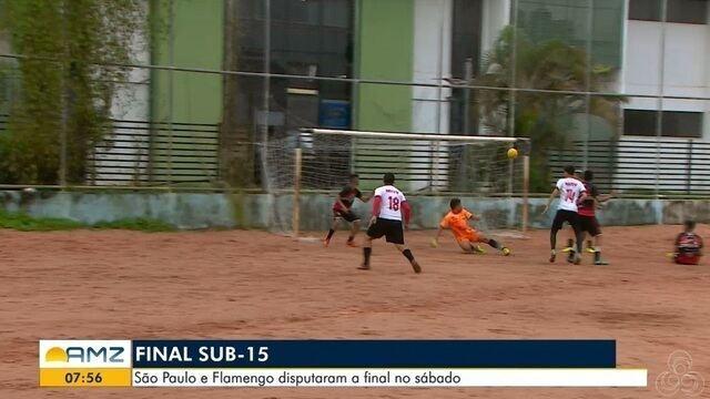 São Paulo e Flamengo disputaram uma final do Sub-15 de futsal no sábado