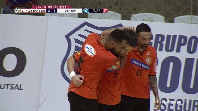 Os gols de Carlos Barbosa 3 x 2 Tubarão pela Liga Nacional de Futsal