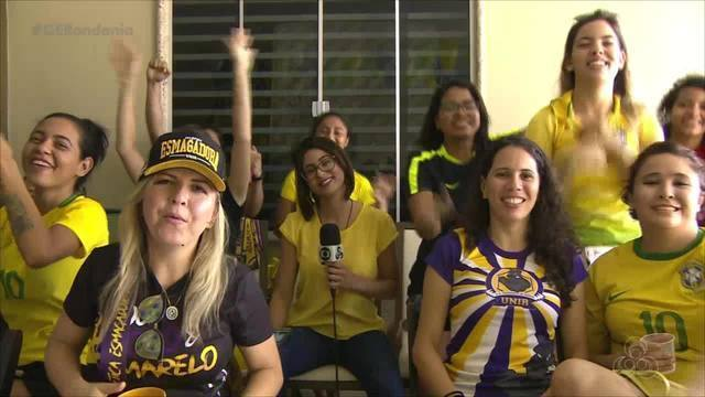 A Seleção de Futebol Feminino do Brasil teve apoio da torcida portovelhense