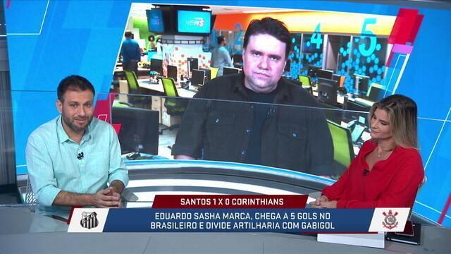 Comentaristas debatem domínio do Santos na Vila Belmiro