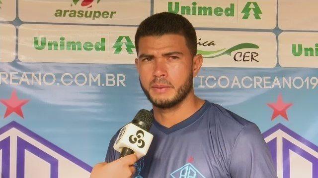 Kássio chega ao Atlético-AC confiante, mas ressalta que ainda não está 100% fisicamente