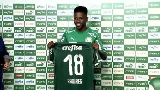 Veja a apresentação do meio-campista Ramires ao Palmeiras