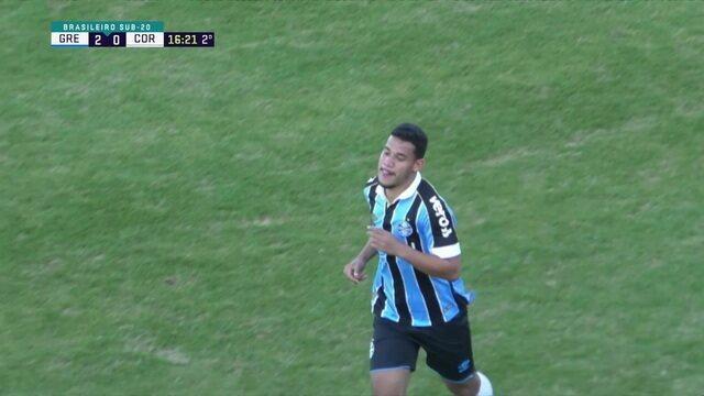 Os gols de Grêmio 2 X 0 Corinthians Pelo Campeonato Brasileiro Sub-20