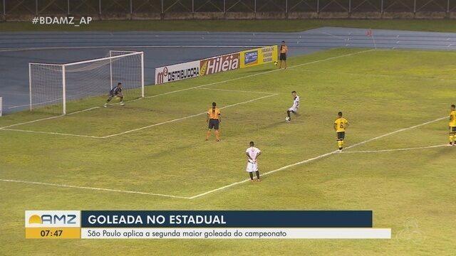 6x1: São Paulo aplica a segunda maior goleada do Amapazão em cima do Santana
