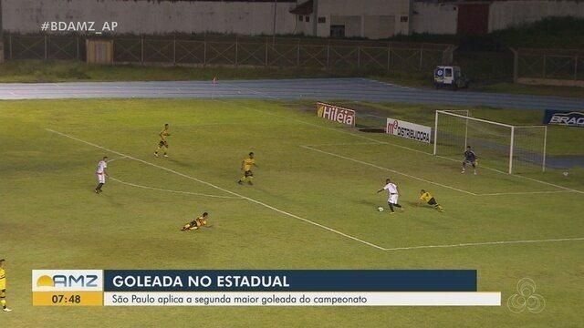 Confira os melhores momentos da goleada do São Paulo-AP em cima do Santana