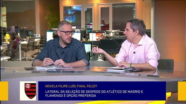 """Carlos Eduardo Mansur comenta negociação do Flamengo com Filipe Luís: """"Significativo"""""""