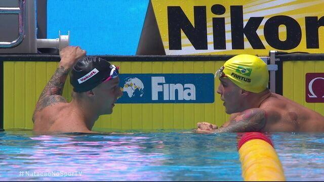 Bruno Fratus é prata nos 50m livre e Caeleb Dressel leva o ouro