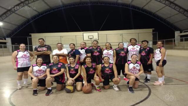 Desafio açaí de basquete master feminino, na quadra da Escola Brasilia