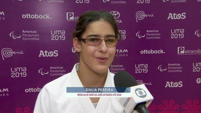 Giulia Pereira vence no judô e conquista a primeira medalha de ouro para o Brasil nos Jogos Parapan-Americanos