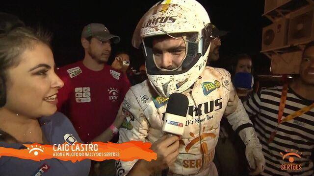Caio Castro e Marcos Ponstein saem ilesos de acidente no Rally dos Sertões