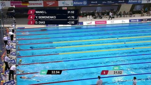 Daniel Dias fatura a medalha de bronze nos 50m borboleta s5 no Mundial de natação paralímpica