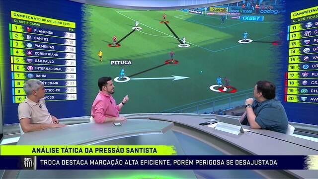 Mesa faz análise tática da pressão do Santos em cima do Athletico-PR