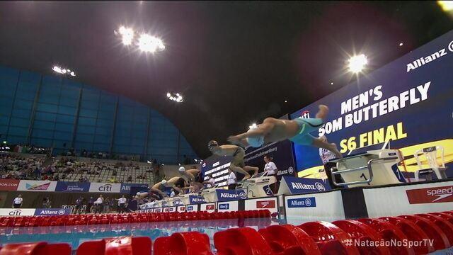 Talisson Glock fica em quarto lugar nos 50m borboleta S6 no Mundial de Natação Paralímpica