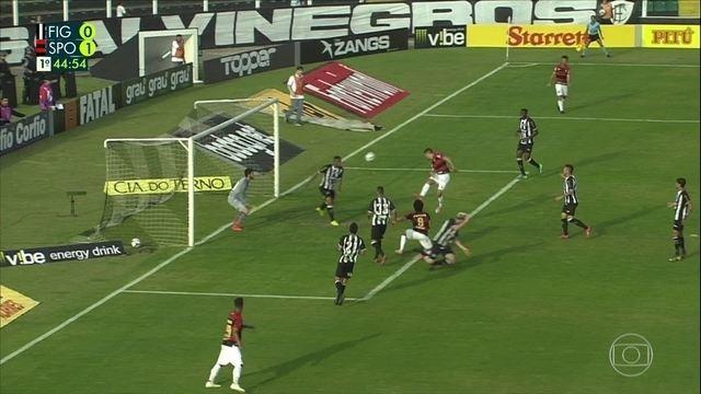 Aos 44 do 1ºT, Ruan Renato salva Figueirense de ombro