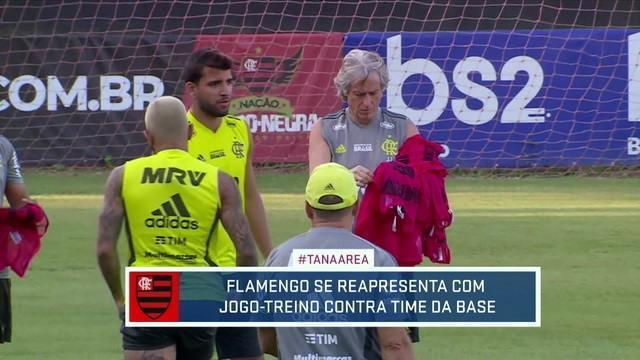 Flamengo se reapresenta com jogo-treino contra equipe da base