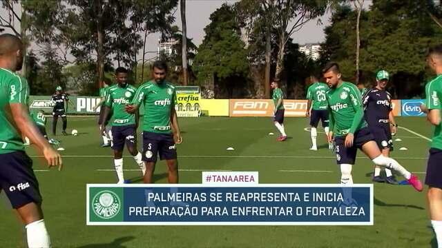 Palmeiras se reapresenta e começa a se preparar para o jogo contra o Fortaleza