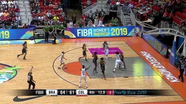 Melhores momentos de Brasil 67 x 61 Colômbia pela Copa América Feminina de Basquete 2019