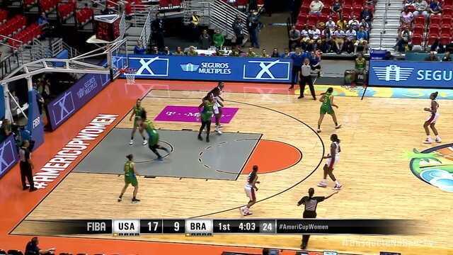 Melhores momentos: Estados Unidos 89 x 73 Brasil pela Copa América de basquete feminino