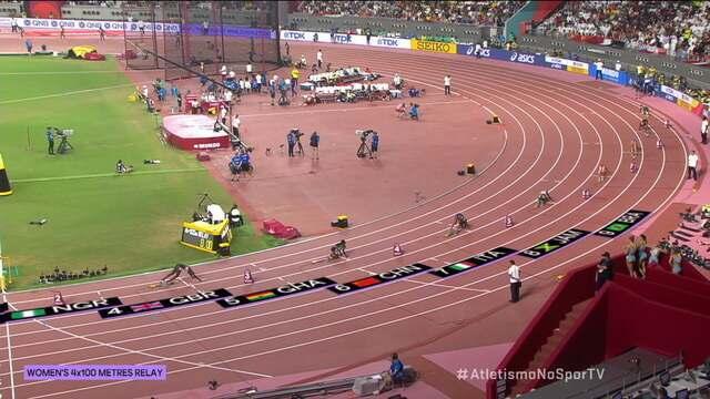 Brasil garante vaga na final dos 4x100m feminino
