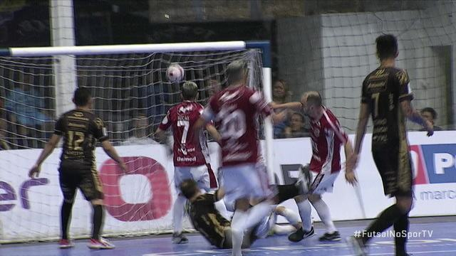 Os gols de Pato Futsal 3(4)x(0)1 Atlântico Erechim pela Liga Nacional de Futsal