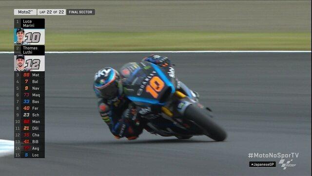 Luca Marini vence etapa do Japão na Moto 2 no Mundial de motovelocidade