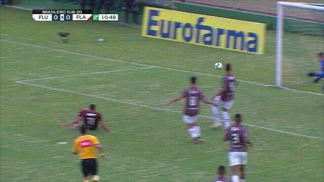Melhores momentos: Fluminense 0 x 3 Flamengo pelo jogo 1 da quarta de final do Campeonato Brasileiro sub 20
