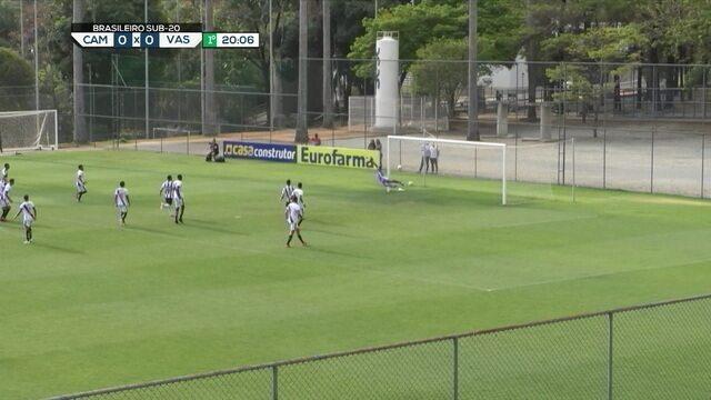 Mais uma vez, Castillo cobra falta da entrada da área e, dessa vez, a bola passa perto da trave direita defendida por Halls