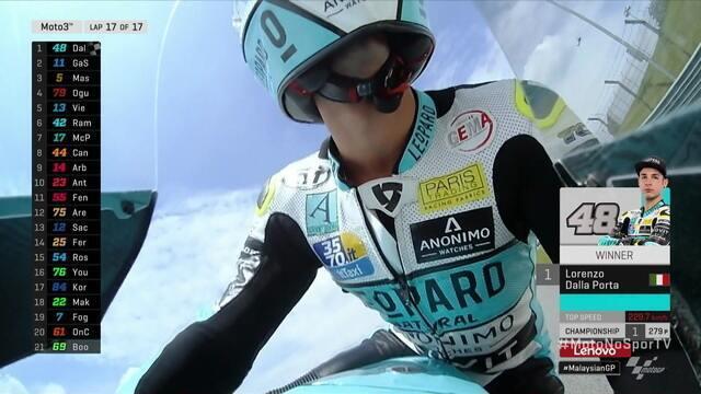 Lorenzo Dalla Porta vence a Moto 3 da Malásia