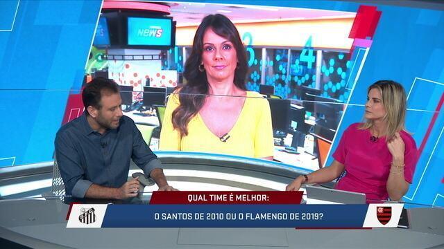 Mesa fala sobre a comparação do Flamengo de hoje com o Santos de 2010