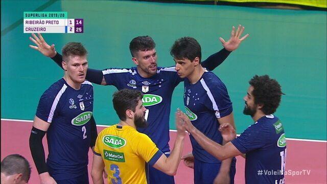 Melhores momentos de Ribeirão Preto 1 x 3 Cruzeiro pela Superliga masculina