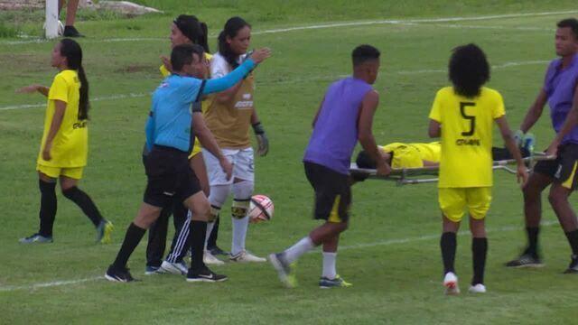Jogadora Ericleia, do Vilhenense, sofreu uma convulsão durante o jogo
