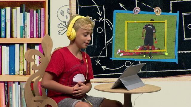 Crianças reagem a simulações em jogos de futebol
