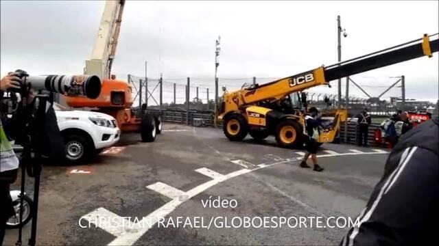 Grupo de Sorocaba trabalha no GP Brasil de Fórmula 1 em máquinas de içar os carros
